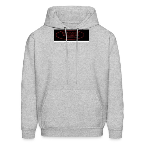 Damaged Records Black and Red Oval logo - Men's Hoodie