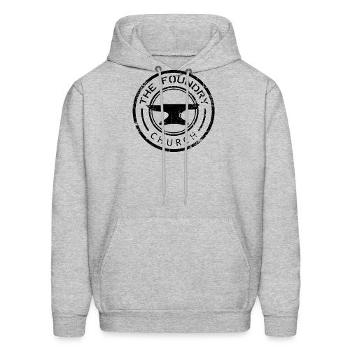 Foundry Church Logo Distressed black 12 in - Men's Hoodie