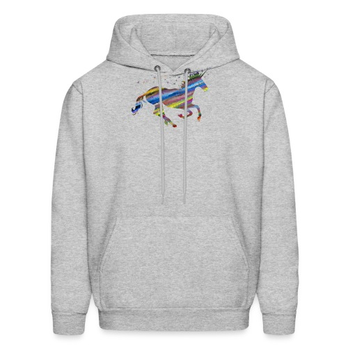 The Majestic Prismatic Streaked Magical Unicorn - Men's Hoodie