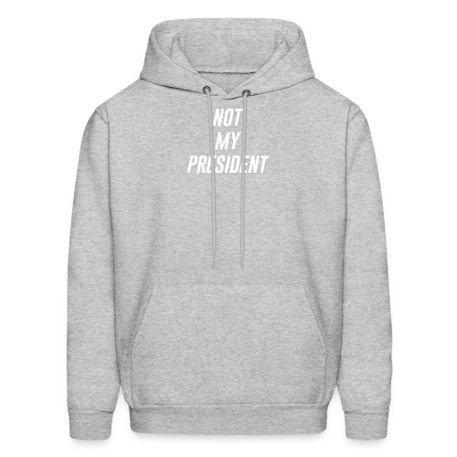 Not My President White - Men's Hoodie