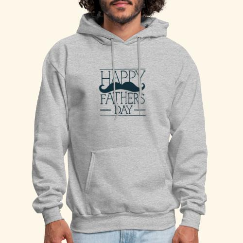 Fathers Day Mustache Design - Men's Hoodie