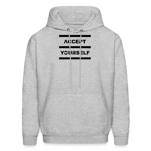 Accept Yourself Black Letters - Men's Hoodie