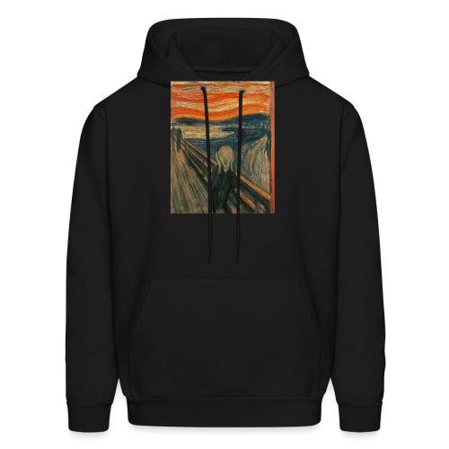 The Scream (Textured) by Edvard Munch - Men's Hoodie
