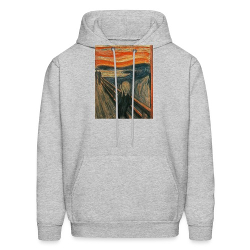 The Scream (Textured) by Edvard Munch - Men's Hoodie