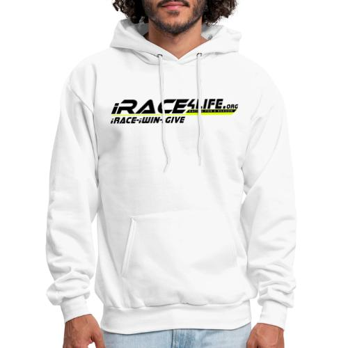 iRace4Life.org Logo with iRace-iWin-iGive! - Men's Hoodie