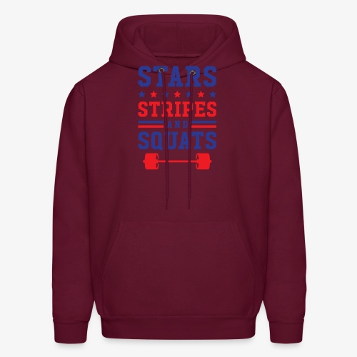 Stars, Stripes And Squats - Men's Hoodie