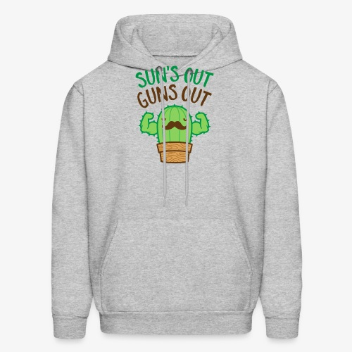 Sun's Out Guns Out Macho Cactus - Men's Hoodie