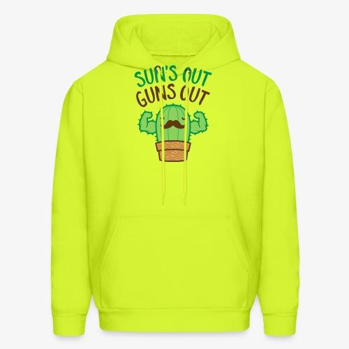 Sun's Out Guns Out Macho Cactus - Men's Hoodie