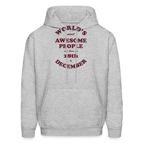 Most Awesome People are born on 28th of December - Men's Hoodie