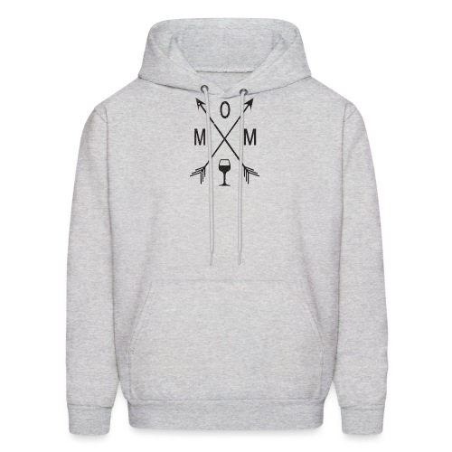 Mom Loves Wine (black ink) - Men's Hoodie