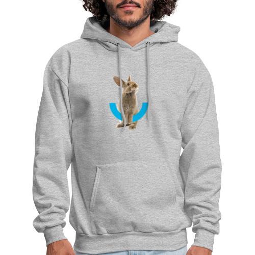 Rabbit Icon & Logo in Back - Men's Hoodie