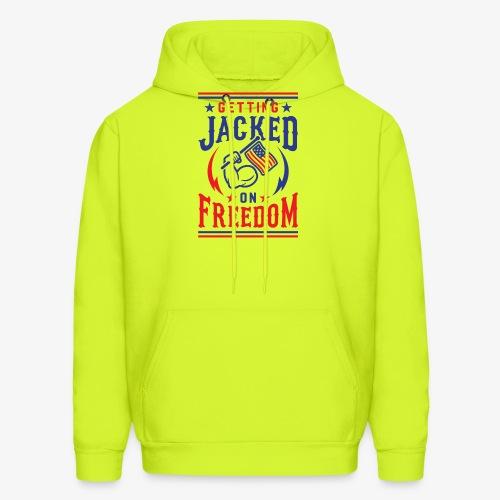 Getting Jacked On Freedom - Men's Hoodie