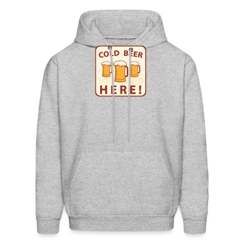 Cold Beer Here - Men's Hoodie