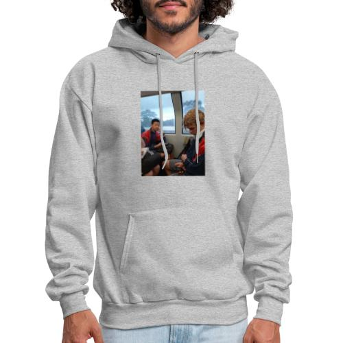 VOOMAS TIME on the train - Men's Hoodie
