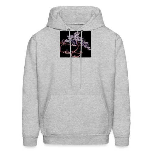 Whales swimming through pollution - Men's Hoodie