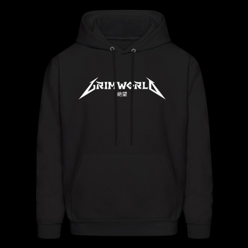 GRIMWORLD LOGO COKE WHITE - Men's Hoodie