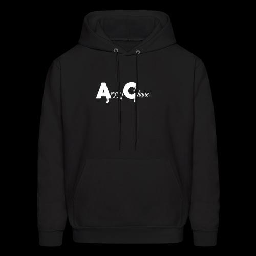 AceyClique White Logo - Men's Hoodie