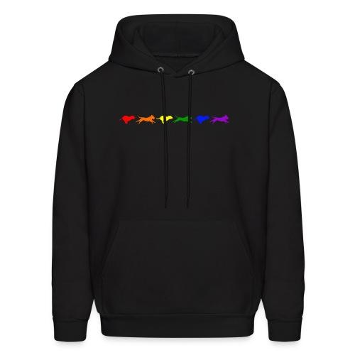 Staffy in Motion- Rainbow - Men's Hoodie