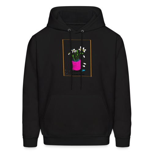 He Loves Me He Loves Me Not Daisy - Men's Hoodie