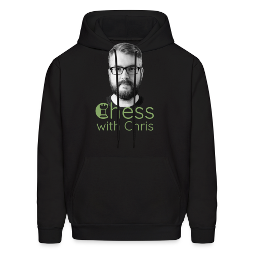 Chess with Chris Face and Logo - Men's Hoodie