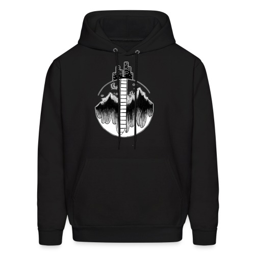 Moon City - Men's Hoodie