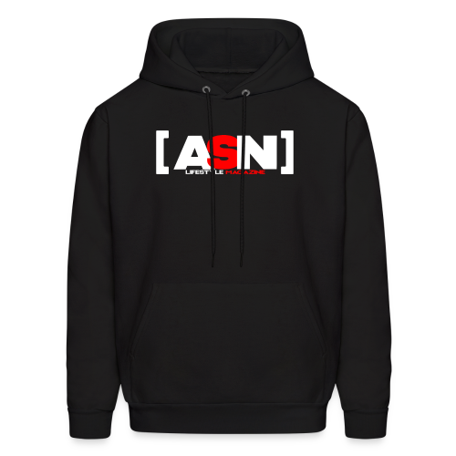 ASN Lifestyle Magazine White Logo - Men's Hoodie