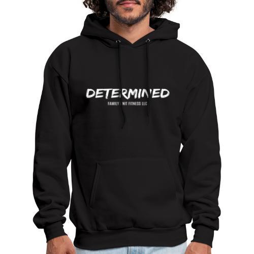 DETERMINED line-White - Men's Hoodie