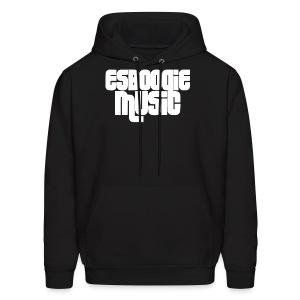 ESBOOGIEMUSIC WHITE LOGO - Men's Hoodie