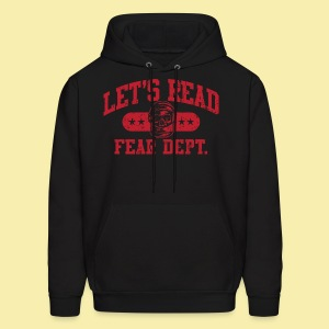 Fear Dept - Athletic Red - Inverted - Men's Hoodie
