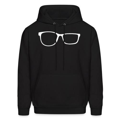 ZobGlasses White - Men's Hoodie