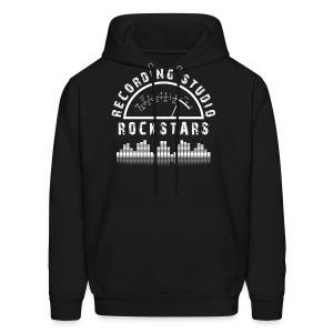 Recording Studio Rockstars - White Logo - Men's Hoodie