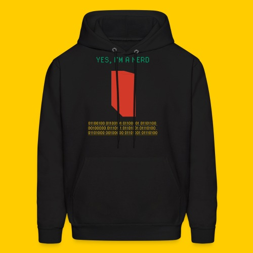 Yes, I'm a nerd deal with it - Men's Hoodie