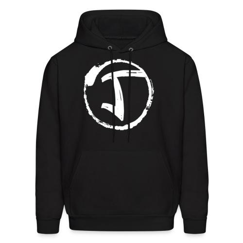 JKrew Simple White logo - Men's Hoodie