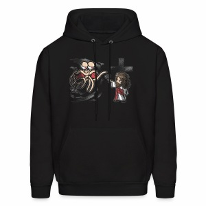 FSM and Jesus Face-off - Men's Hoodie