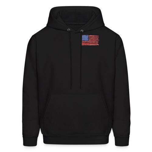 American Flag Brushed - Men's Hoodie