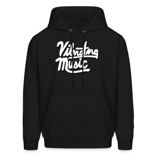 Vibrating Music Text - Men's Hoodie