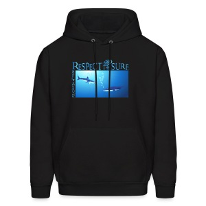 Respect The Shark - Men's Hoodie
