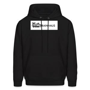 trainhaus block logo - Men's Hoodie