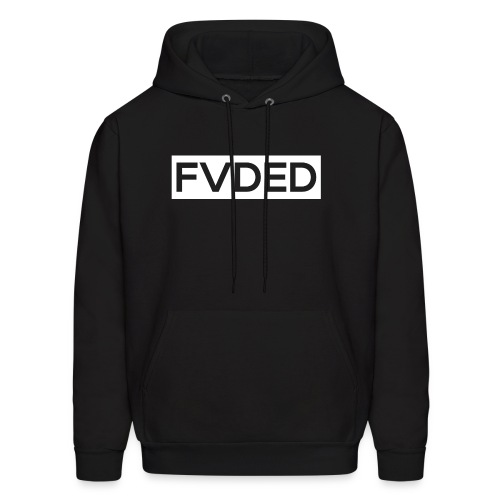 FVDED Cutout resize V1 white - Men's Hoodie