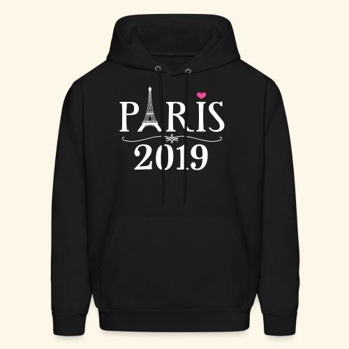 Paris France 2019 Eiffel Tower - Men's Hoodie