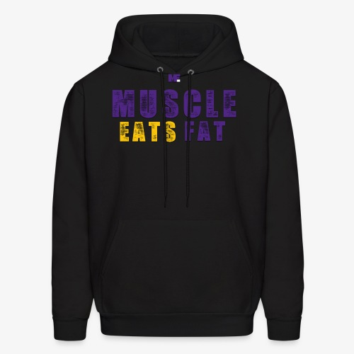 Muscle Eats Fat (Vikings Edition) - Men's Hoodie