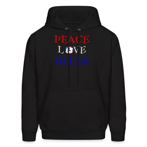 Peace, Love and Blues - Men's Hoodie