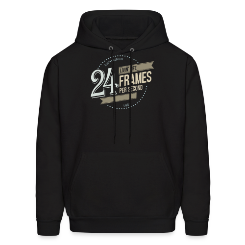 Livin' Life 24 Frames per Second - Men's Hoodie