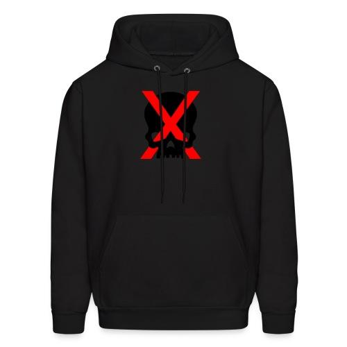 red x and black skull - Men's Hoodie