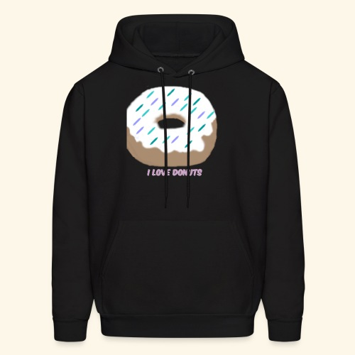 I Love Donuts - Men's Hoodie