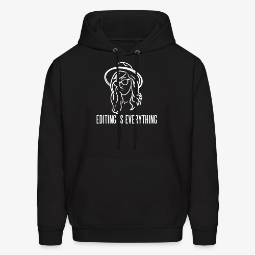 Editing Is Everything NEW LOGO - Men's Hoodie