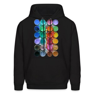 watercolor rainbow abstraction pallete T-shirt - Men's Hoodie