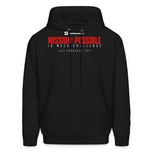 mission possible logo dark - Men's Hoodie