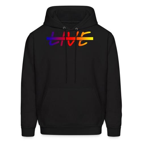 Live Logo Gradient - Men's Hoodie