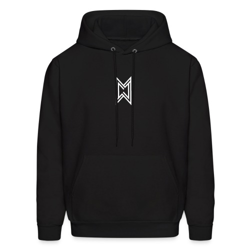 TheMWarrior White Logo Black T-Shirt - Men's Hoodie